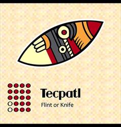 Aztec symbol tecpatl vector
