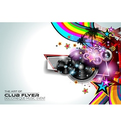 Disco Flyer Art for Music Event backgrounds vector image