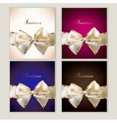 Gift Cards Set vector image vector image