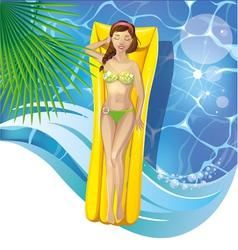 girl in pool vector image vector image