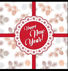 happy new year and merry christmas 2018 32 vector image