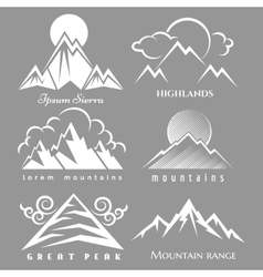 White mountain logo set vector image