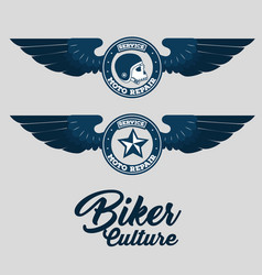 biker for life emblem vector image