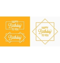Birthday set badges labels vector image vector image