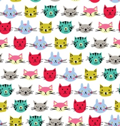 cute cats background vector image vector image