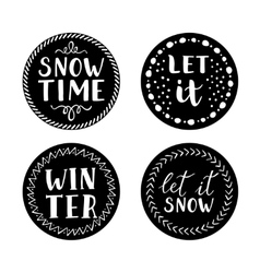 Let it snow Christmas Icons vector image