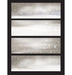 winter snowfall vector image vector image