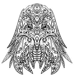 Zentangle stylized eagle head vector image