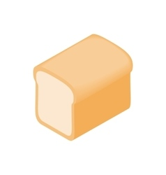 Bread icon isometric 3d style vector image vector image