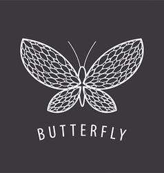 logo elegant white butterfly petal vector image vector image