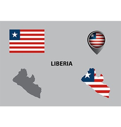 Map of Liberia and symbol vector image