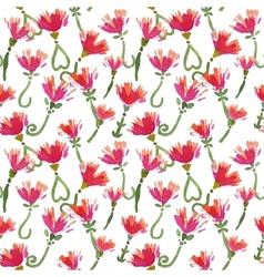Watercolor beautiful decorative seamless pattern vector image vector image