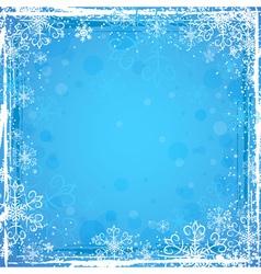 blue grunge christmas background vector image