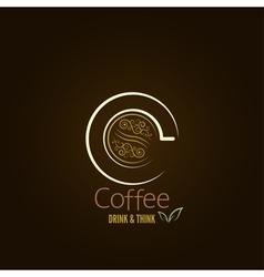 coffee cup concept menu design vector image