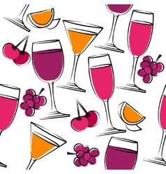 seamless pattern with wine vector image vector image
