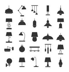 silhouette of modern interior equipment vector image vector image