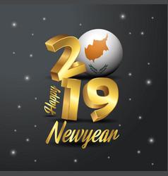2019 happy new year cyprus flag typography vector