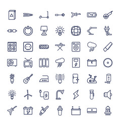 49 electric icons vector