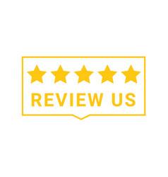 5 star feedback rate us service vector