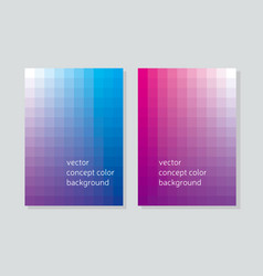 abstract concept geometry booklet cover with vector image
