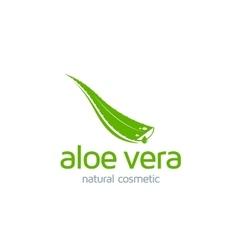 Aloe vera label vector