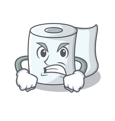Angry tissue character cartoon style vector