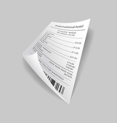 Bill paper with prices vector