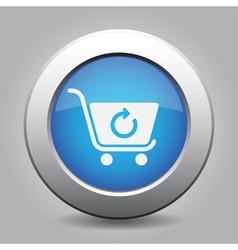 Blue button - shopping cart refresh vector