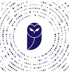 Blue owl icon isolated on white background animal vector