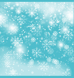 blue snowflake backgroundchristmas snowfall vector image