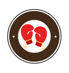 Boxing gloves isolated icon vector