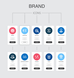 Brand infographic 10 steps ui designmarketing vector