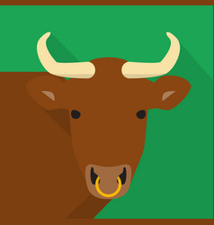 bull icon set of great flat icons design vector image