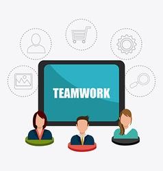 Business teamwork design vector