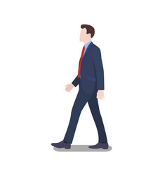 businessman walking firmly vector image