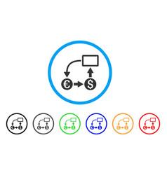 cashflow euro exchange rounded icon vector image