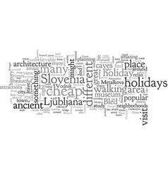 Cheap holidays in slovenia vector