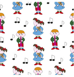 Childrens music theme vector