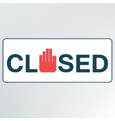 Closed sign vector