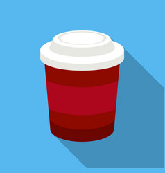 Coffee icon in flat style for web vector