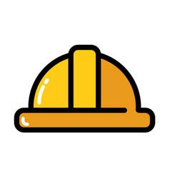 construction worker helmet icon vector image