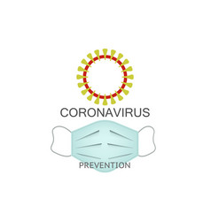 Coronavirus prevention icon surgical mask icon vector