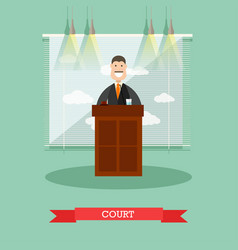 Court in flat style vector