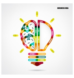 Creative light bulb concept with business idea vector
