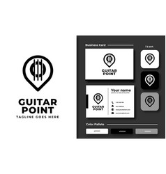 creative professional trendy guitar point logo vector image