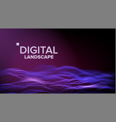 data landscape energy space topography vector image