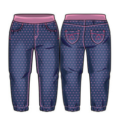 denim pants for a toddler girl vector image