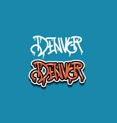 denver colorado usa hand lettering graffiti tag vector image