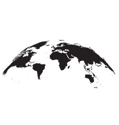 detailed world map globe vector image