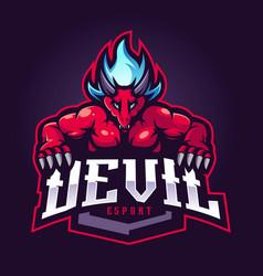 devil mascot esport logo vector image